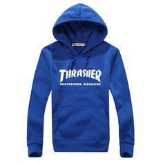 Thrasher Skateboard Magazine Blue Hoodie