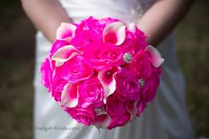 Hot Pink Wedding Flower Bouquet by Budget-Bride.com