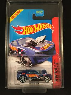 2014 Hot Wheels HW Race Treasure Hunt TWINDUCTION Blue Racing w/ PROTECTO #HotWheels #Twinduction