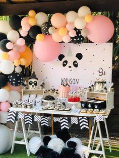 Angela L's Birthday / Panda - Photo Gallery at Catch My Party Panda Birthday Party, Panda Party, Bear Party, Valentines Day Party, 1st Birthday Girls, 1st Birthday Parties, Birthday Celebration, Birthday Ideas, Pink Panda