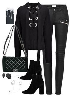 """""""Untitled #2978"""" by theaverageauburn on Polyvore featuring Joseph, Chanel, MANGO, Ray-Ban and Beats by Dr. Dre"""