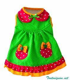 Vestido Catarina un modelo ideal para esta primavera verano. Encuentralo en Toutmignon.net. Ropa y accesorios para mascotas