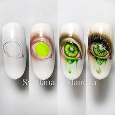 Popular Nail Designs, Nail Art Designs Videos, Colorful Nail Art, Floral Nail Art, Sharpie Nails, Diy Nails, Pretty Nail Art, Cute Nail Art, Nail Art Fruit