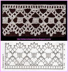 Luty Artes Crochet: Barrados de Crochê + Gráfico.