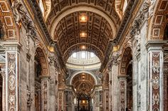 Rome Skip the Line: Vatican Museums, Sistine Chapel and St Peter's Basilica Half-Day Walking Tour in Italy Europe Vatican Tours, Rome Tours, Vatican City, Basilica San Pedro, Rome Attractions, St Peters Basilica, Renaissance Architecture, Roman Architecture, Sistine Chapel