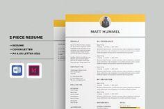 Resume/CV by Occy Design on @creativemarket #resume #cv