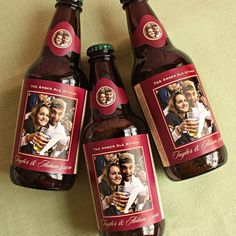 engagement announcement // groomsmen personalized beer