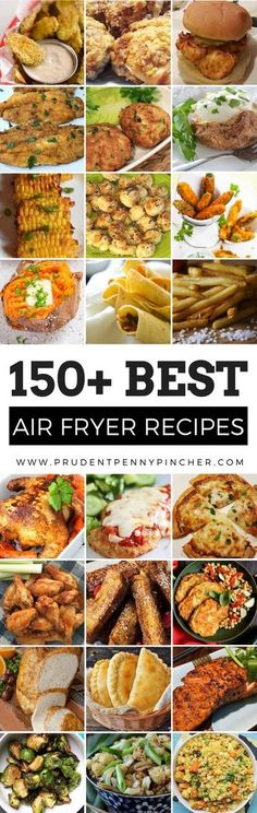 This is the ULTIMATE collection of the best air fryer recipes. There are over a hundred air fryer recipes for breakfast lunch dinner snacks appetizers desserts and more! With the New Year right around the corner start the year off right by being mor Air Frier Recipes, Air Fryer Oven Recipes, Convection Oven Recipes, Air Fryer Recipes Breakfast, Healthy Diet Recipes, Cooking Recipes, Lunch Recipes, Easy Recipes, Dinner Recipes