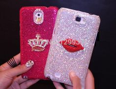 Bling Diamond Kiss Lip Crown Case For Iphone 7 6 6S Plus 5S SE 5C 4 Samsung Galaxy Note 5 4 3 2 S7 S6 Edge Plus S5/4/3   #New #Trend #Hot #Discount #Buy #Sale