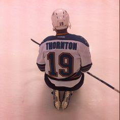 8d5a97020 Joe Thornton of NHL San Jose Sharks Bless thy captain Mike Lange