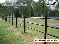 Pipe Fencing Application #pipes #fencing #application