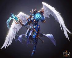Fantasy Warrior, Fantasy Heroes, Fantasy Weapons, Fantasy Characters, Anime Characters, Dark Fantasy Art, Fantasy Artwork, Fantasy Character Design, Character Design Inspiration