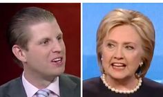 "Eric Trump Questions What the Clintons Were Selling To Become So Rich. ""The question I always ask is, what product were they selling? If we make a buck, we sold a bottle of wine or an apartment, or we sold a hotel room. What product were they selling to make $150 million?"" Eric Trump said. ""Favors? The government?"" replied host Ainsley Earhardt. ""Of course,"" responded Trump."