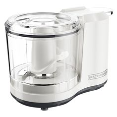 Black & Decker HC150W One-Touch 1.5 Cup Capacity White Chopper - 110 Volts