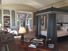 Nina Campbell Greystone Manor bedroom canopy bed