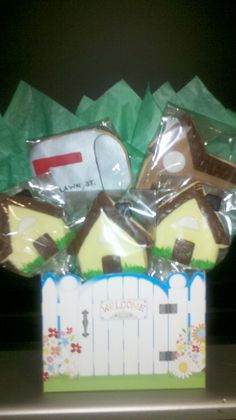 Welcome House Cookie Bouquet by Distinctive-Desserts.com