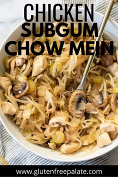 You'll love this super simple chicken subgum chow mein that's low in carbs but full of flavor! Chow Mein, Chow Chow, Gluten Free Dinner, Gluten Free Desserts, Finger Food Appetizers, Finger Foods, Gf Recipes, Gluten Free Recipes, Super Simple