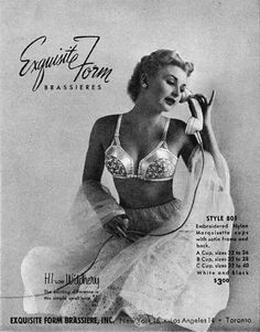 Exquisite Form Brassiere 1950 The Phone Call