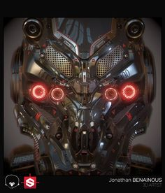 ArtStation - Sci-Fi Helmet - Real Time Version - by Jonathan BENAINOUS, Jonathan BENAINOUS