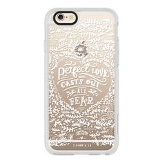 iPhone 6 Plus/6/5/5s/5c Case - 1 John 4:18 Bible Verse Case ($40) ❤ liked on Polyvore featuring accessories, tech accessories, iphone case, iphone hard case, apple iphone cases, iphone cover case and iphone cases