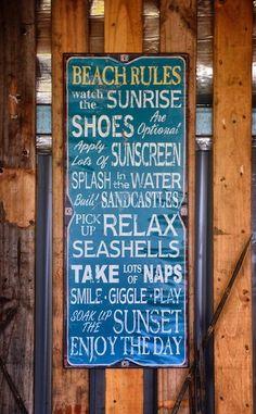 Banubanu Beach Rules - Great Advice