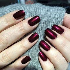 Morgan Taylor Nail Lacquer in 'Vixen In A Mask; Gelish Nail Colours, Gelish Nails, Manicures, Gorgeous Nails, Pretty Nails, Acrylic Nail Designs, Acrylic Nails, Hair And Nails, My Nails