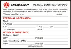 Free Printable Medical ID Cards | Medical ID Wallet Size Cards | MedIDs.com