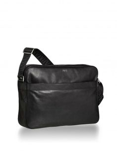 29f311a44d20 Emporio Armani Mens Black Messenger Bag 1