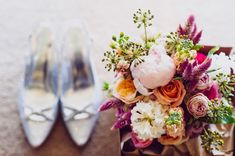 floral bouquets - photo by Jess Jackson Photographer http://ruffledblog.com/intimate-queensland-wedding