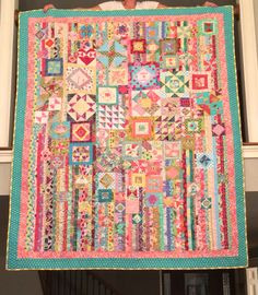 Gypsy Wife pattern by Jen Kingwell.  I made this quilt in two weeks time for my daughter to take to college.  She (fortunately) LOVES it!