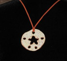 Cold Porcelain Sand Dollar Necklace by OrchidViola on Etsy, $28.00