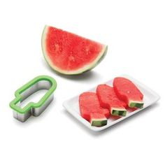 This awesome watermelon slicer will eliminate your messy face problem when eating the summer fruit! Just slice your melon inches thick. Use the slicer like Watermelon Cutter, Watermelon Slicer, Watermelon Fruit, Make Ice Cream, Fruit Arrangements, Brunch, Monkey Business, Ice Pops, Cordon Bleu