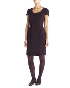 Fine Wool Pleat Hem Dress