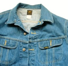 Vintage Lee Rider Jean Jacket Union Label #LeeJeans