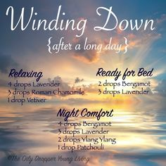 Who doesn't love more diffuser blends? Here are a few that are great for winding down after a long day. One of my favorite, most basic combinations is 4 drops Cedarwood and 4 drops Lavender. …