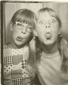 +~ Vintage Photo Booth Picture ~+ Girls being girls ~