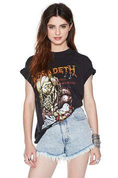 Megadeth '87 Tour Tee #rocktee #vintagetee