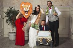 El photocall safari es para los aventureros, ¡con muchas agallas!