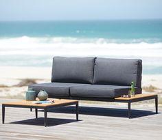 Loungeset LEVANGER 2-sits grå/natur | JYSK