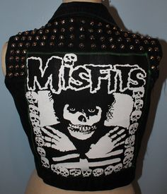 Misfits Studded Vest by DetroitDollface on Etsy