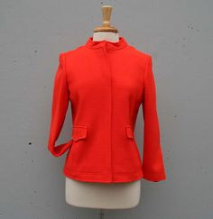 60s Mod ORANGE Jacket! Mod Jacket, Orange Jacket, Orange You Glad, 60s Mod, Dry Goods, Vivid Colors, Vintage Fashion, Banana, Trending Outfits