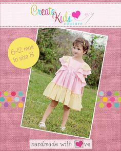 Create Kids Couture - Emily's Angel Sleeve Dress PDF Pattern, $8.00 (http://createkidscouture.com/emilys-girls.html)