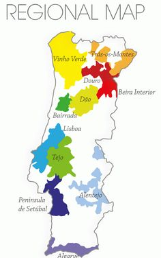 Portugal Wine Map - Warre's, Miles Madeira