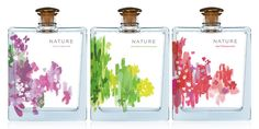 """Nature"" diffuser bottles packaging & ID design concept // Studio MPLS Perfume Packaging, Flower Packaging, Tea Packaging, Bottle Packaging, Beauty Packaging, Cosmetic Packaging, Brand Packaging, Id Design, Store Design"