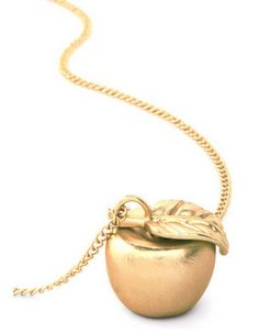 Snow White Gold Apple Necklace