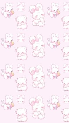 Art, baby, and background image Sanrio Wallpaper, Cute Pastel Wallpaper, Soft Wallpaper, Cute Patterns Wallpaper, Kitty Wallpaper, Kawaii Wallpaper, Wallpaper Iphone Cute, Arte Do Kawaii, Kawaii Art