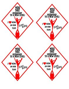 Personalized Cheer Valentine Tags  These tags are intended to be printed on white card stock paper. You can print and cut around the shape. Add to your favorite tasty treat!  ***After you have placed your order and your design is made, you will receive a PDF file via email that you can print at home or at your local print shop. (Office Depot, Staples or any other local shop) With many design options available, this product can be customized to look just how you imagined. I can do any…