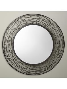 John Lewis & Partners Fusion Swirl Mirror, Grey at John Lewis & Partners Handmade Mirrors, Living Room Accessories, Living Room Update, Oval Mirror, John Lewis, Living Room Interior, Grey, Metal, Stuff To Buy