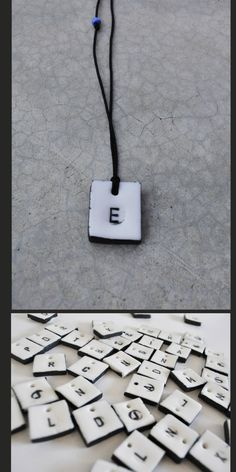 A personal favorite from my Etsy shop https://www.etsy.com/listing/249966299/ceramic-letter-charm-necklace-white
