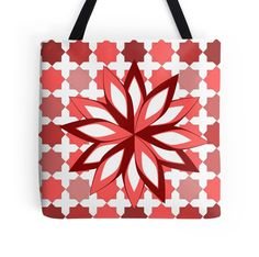 Check out this colorful floral perfect for Red Tote Bag, Red S, Shops, Reusable Tote Bags, Community, Colorful, Spring, Check, Floral